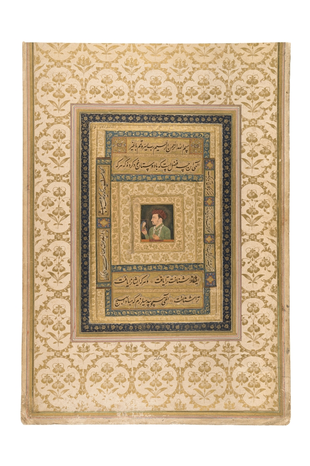 Jahangir Holding a Portrait of the Virgin MaryMughal, about AD 1620Probably Agra, Uttar Pradesh, India.