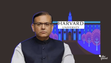 Image of Union Minister Jayant Sinha and Harvard Uni used for representational purposes.