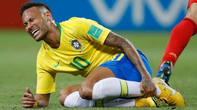 Neymar netted two goals for Brazil in their five matches.