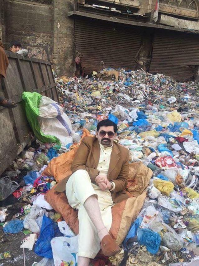 Motiwala sits on a garbage dump.