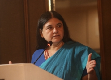 Union Women and Child Development Minister Maneka Gandhi. (Photo: IANS)