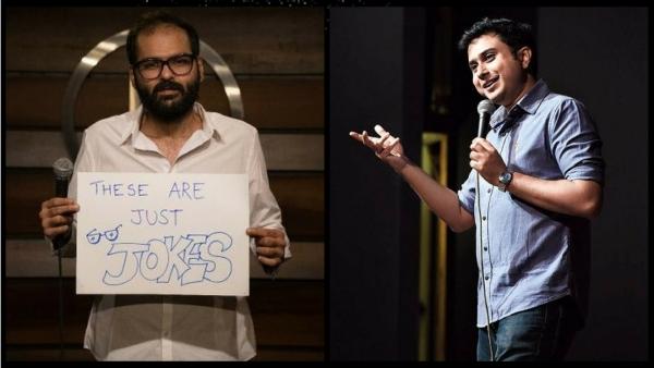 Comedians Kunal Kamra and Anirban Dasgupta.