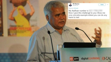 TRAI chairman put out his Aadhaar number on Twitter and challenged hackers to reveal his personal data.