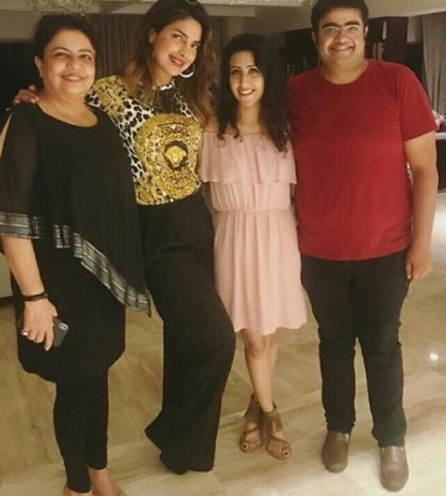 PeeCee spends time with her family in Mumbai.