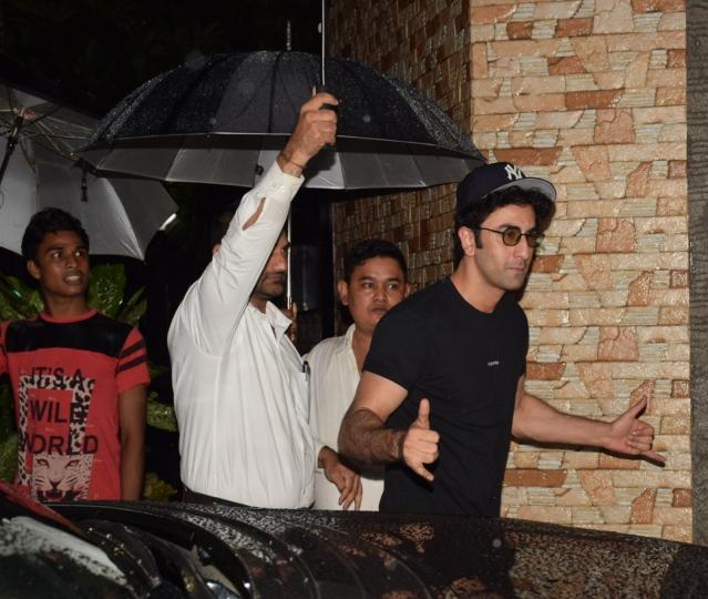 Ranbir Kapoor makes a hero's entry.