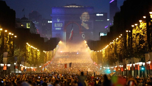 In Pics: From Moscow to Paris, France Fans Celebrate World Cup Win