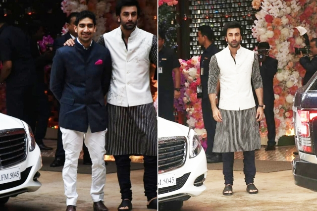 Ayan Mukerji and Ranbir Kapoor too dropped by for the <i>mehendi, </i>after all the two and Akash are football buddies!