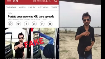 "The Times of India was called out on Twitter for using an image from a fake video of the ""Kiki"" challenge in its story."