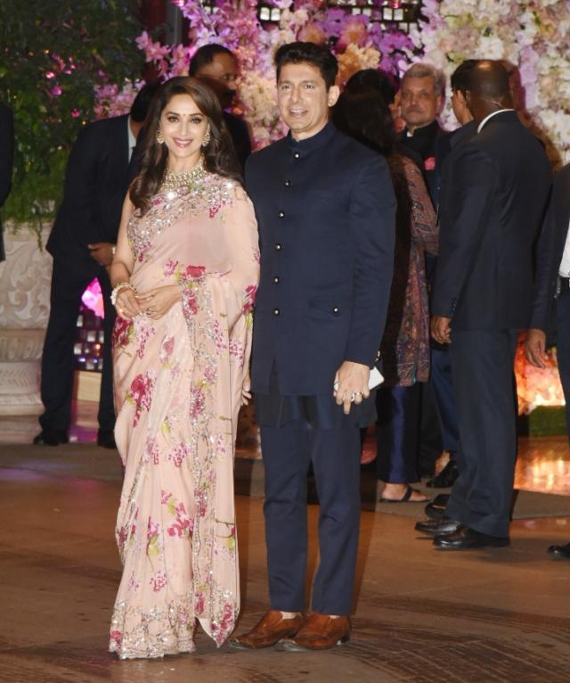 Madhuri Dixit made an appearance with husband Sriram Nene.