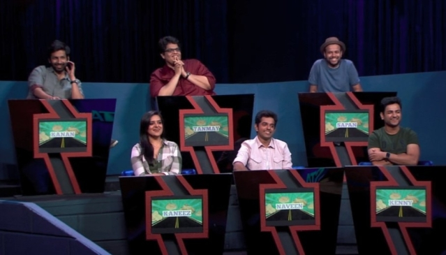 The panel of judges, minus Biswa who was the mentor for this episode.