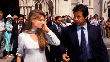 Imran Khan with ex-wife Jemima  Goldsmith in London.