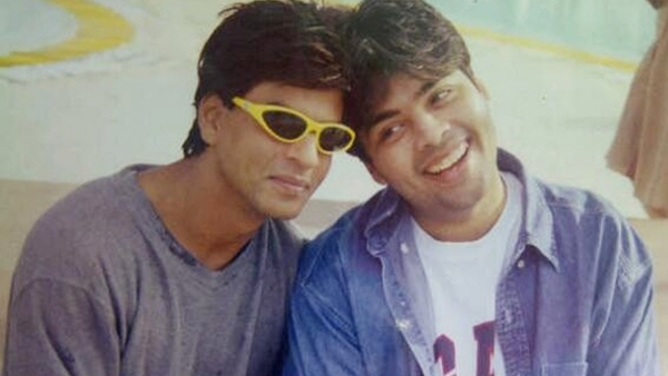A throwback picture of KJo and SRK from the time of <i>Kuch Kuch Hota Hai.</i>