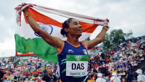 Hima Das won a gold medal for India in the 400m event at the IAAF Under20 World Championships.