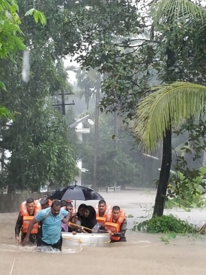 Kerala Rescue Operations Underway In Various Flood Affected Areas Of Kerala On Aug