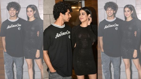 Ishaan and Janhvi were all smiles at the <i>Dhadak </i>success party.