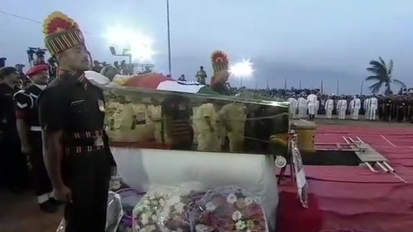 Karunanidhi Laid to Rest at Marina Beach With State Honours