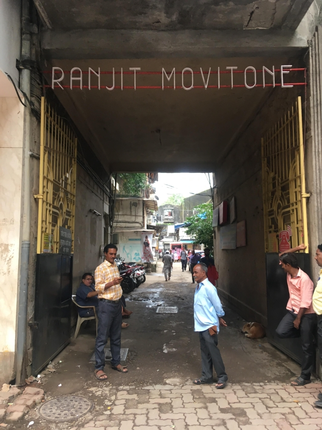 The entrance to the iconic Ranjit Movietone studio stands as it was, even today.