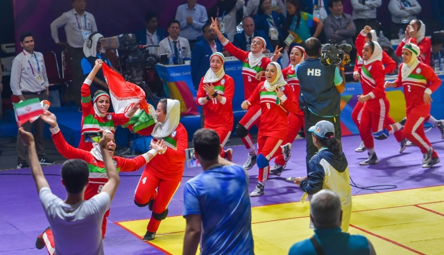 The Iranian team ended the defending champion's hope of retaining their crown.