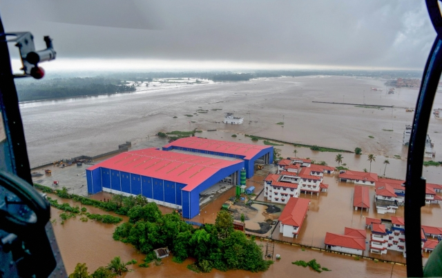 A view of flooded areas of Kerala, on Monday, 20 August 2018.
