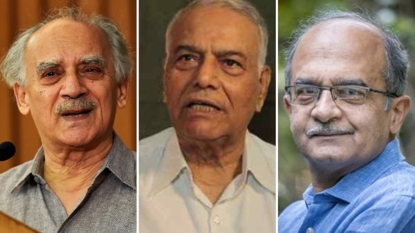 Arun Shourie, Yashwant Sinha and Prashant Bhushan held a press conference on Rafale deal on 8 August.