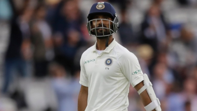 Rahane, who did all the hard work to survive 44 deliveries, nicked Anderson's straight delivery to first slip Alastair Cook.
