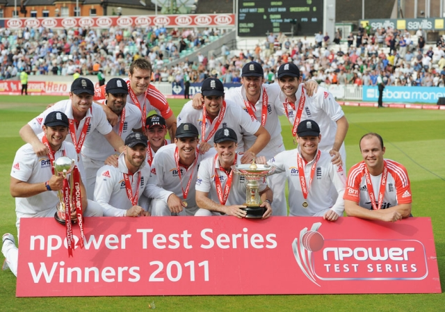 Stuart Broad and James Anderson were England's top two bowlers during India's tour of England in 2011. England beat India 4-0 in the Test series.