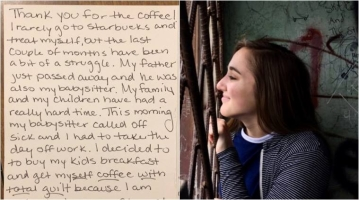 A 19-year-old Ohio student, Mackenzie Mauller, paid for a stranger's coffee & was surprised by the response she got.