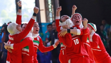 The Iranian women's kabaddi team defeated defending champions India in the 18th Asian Games.