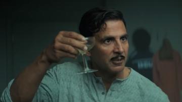 Akshay Kumar in a still from the  trailer of <i>Gold.</i>