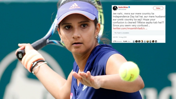 Sania Mirza Shuts Down Troll: My Independence Day is 15 August!