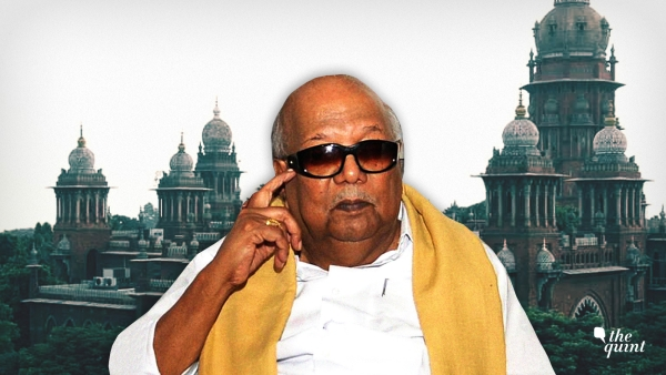 The late M Karunanidhi and the Madras High Court.