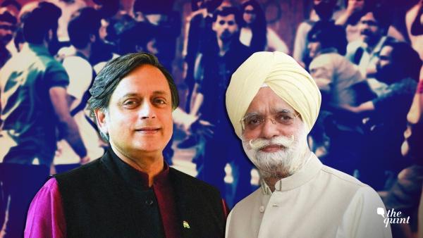 Shashi Tharoor (L) and KTS Tulsi (R)