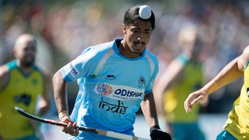 As many as three Indian players scored a hat-trick each as India toyed with the Indonesians in the lop-sided Pool A encounter.