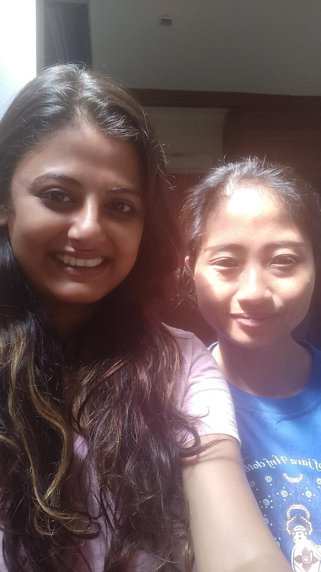 With Ayu, my massage therapist in Bali.