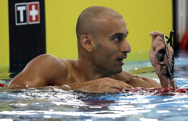 Virdhawal Khade finished fourth in the men's 50m freestyle final.