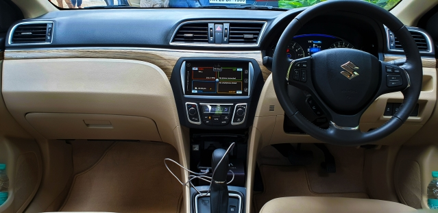 This space is familiar in the new Ciaz.
