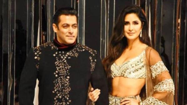 Salman Khan and Katrina Kaif at Manish Malhotra's show.