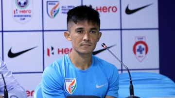 India captain Sunil Chhetri said the football team needs to be given a chance to perform.