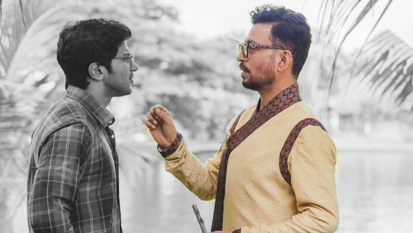 Dulquer Salmaan and Irrfan Khan in <i>Karwaan.</i>