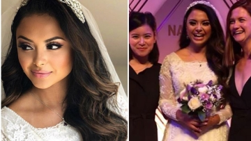 Actor Afshan Azad, who essayed the role of Padma Patil in the Harry Potter film series, got hitched recently.