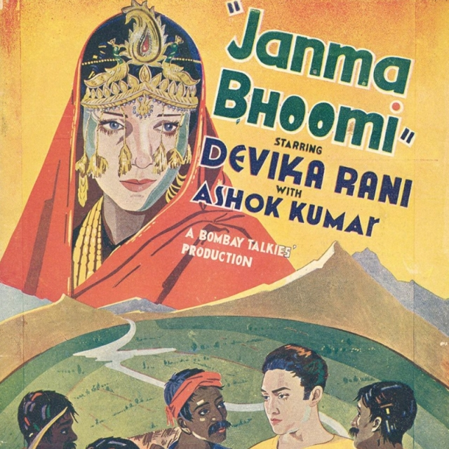 Film poster of <i>Janma Bhoomi</i>, a Bombay Talkies production.