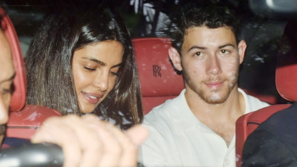 Priyanka Chopra and Nick Jonas on the day after their engagement.