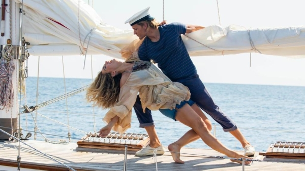 A still from <i>Mama Mia! Here We Go Again.</i>