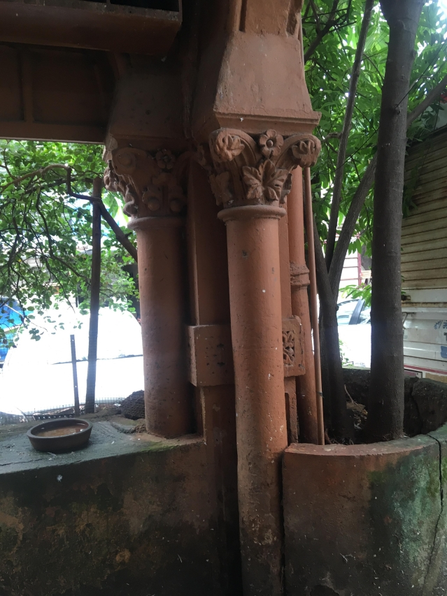 This ornate pillar at Ranjit Movietone is likely to have starred in several films.