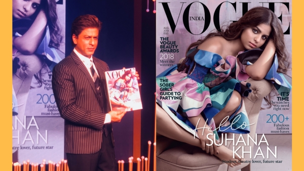 Shah Rukh Khan launches his daughter Suhana's first cover photo feature on a fashion magazine.