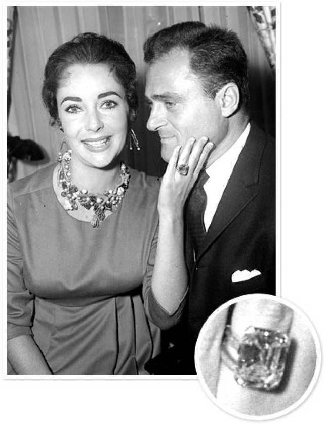 American theater and film producer, Michael Todd married violet eyed Elizabeth Taylor in February 1957 and the two got divorced in March 1958.