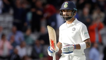 Skipper Virat Kohli couldn't repeat his heroics from Edgbaston on a green wicket at Lord's.