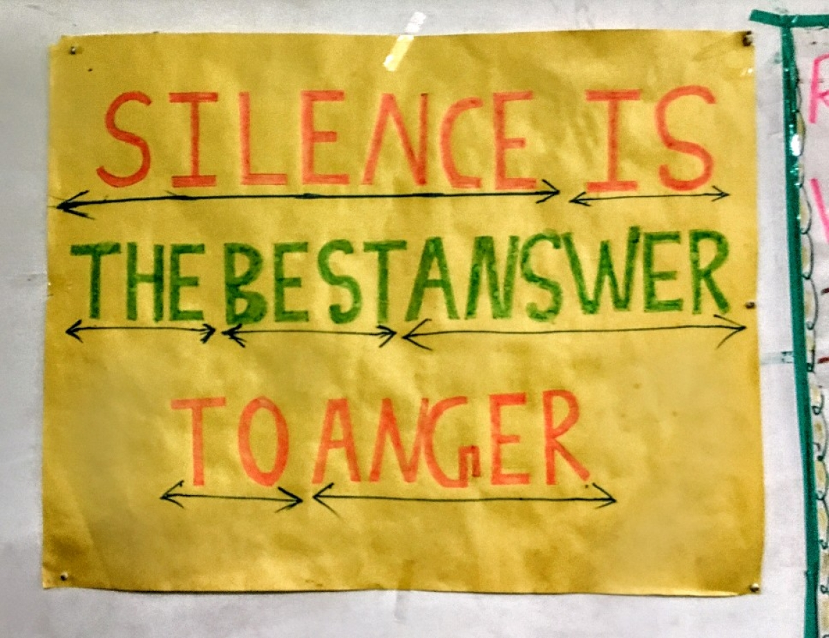 'Silence is the best answer to anger,' Many posters with sayings like these adorn the walls of rehabilitation centres, to keep addicts from relapse.