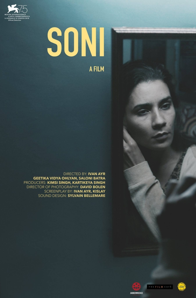The official poster for <i>Soni</i>.