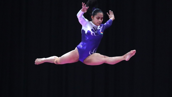 File picture of Indian gymnast Dipa Karmakar in action during the 2018 Asian Games.